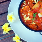 Paneer Tikka Masala marinated of clay oven cottage cheese with Indian Spices, green capsicum and onion tomato gravy