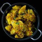 Aloo Panchtara Potato curry in our special Panchfodan Masala