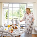 Louise puts the finishing touches to Breakfast each morning at Claddagh House B&B, Ballina, Co Mayo, Ireland.