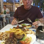 Mixed grill with a delightful husband on a rare child free night