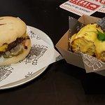 Bar Luca Classic Cheese burger ($13) + gluten & dairy free bun ($1) + Grilled Corn Cob ($7). Pho