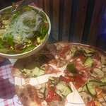 Pizza and Green Salad ... Scrumptious