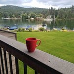 Morning coffee with a view.