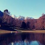Vista del Parque los Andes y sus cumbres nevadas de la cordillera