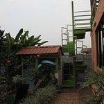 accès à la terrasse panoramique