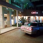 My Car infront of the Cafe 14 of Long Beach Hotel, Cox's Bazar