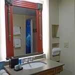 Accessible room with roll in shower