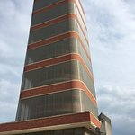 Frank Lloyd Wright's SC Johnson Research Tower (no photos allowed inside any building except the Golden Rondelle Theater).