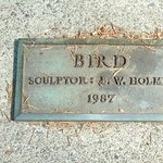 Title plaque for Bird