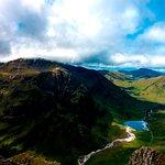 View from Aonach Eagach Ridge