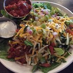 Taco salad (requested no chips)