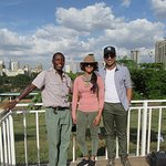 Our guide Shadrack with satisfied guests