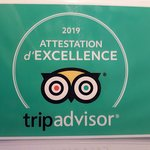 ATTESTATION D'EXCELLENCE TRIPADVISOR