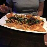 Poke taco platter