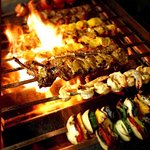 GRILLED KEBAB ON FIRE