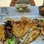 Grilled mixed seafood