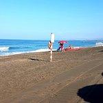 L'ampia spiaggia