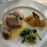 Rabbit, potatoes, and escarole I believe....all delicious