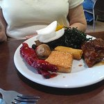 Selection from the buffet. The variety of ribs was excellent.