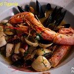 Seafood stir-frying