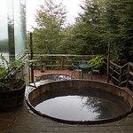 Tinajas exteriores con agua caliente