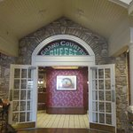 Entrance way into the restaurant