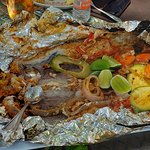 This was a fish meal prepared for our luncheon when we toured the Almaverde Vidanta Farm..
