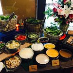 Salad bar set up for private event