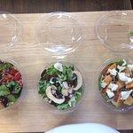 salade végétarienne/serrano/saumon