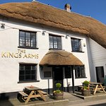 Newly thatched and looking wonderful under stunning blue skies