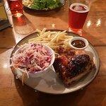 1/4 de poulet frites salade de chou