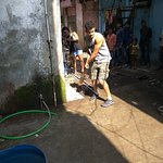 Guesst loves to play Cricket in Dharavi.