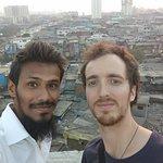 Selfie from top of the slum.