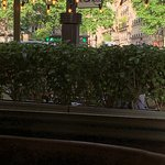 Scossa's shady terrace seating @ Place Victor Hugo