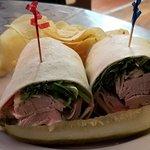 Turkey-Avocado-Swiss Wrap