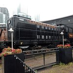 A large exhibit near the entrance to the small Toronto Railway museum.