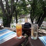 RI Spirits' riverside garden space has plenty of seating and a great view.
