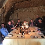 Fabulous lunch in the cave - must be booked in advance.