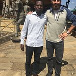 Nelson and I at the Arusha Cultural Heritage Centre