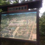 仁和寺全景の案内板
