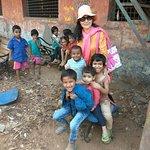 Pic with Dharavi slum kids.
