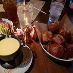 Soft pretzels and provolone fondue.