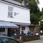 Front Façade of The Cove Café at Pentewan