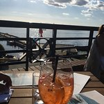 late afternoon from our table...with aperol spritzer