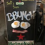 Brunch is served  Saturday and Sunday