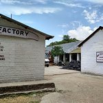 The factory buildings