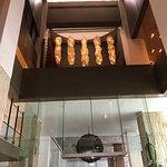Impressive grand lobby of hotel