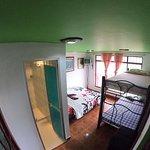 Habitación para 3-4 personas con baño privado