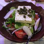 Amazingly fresh greek salad - plenty for two people, even three