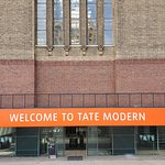 The entrance to the new section of The Tate Modern